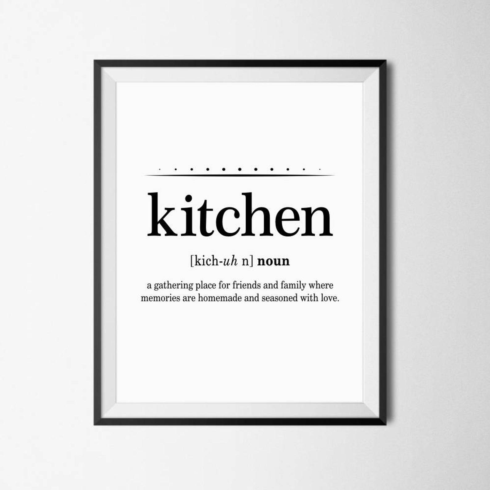 Kitchen Definition Definition Print Kitchen Print Funny Etsy In 2021 Kitchen Definition Kitchen Prints Kitchen Humor