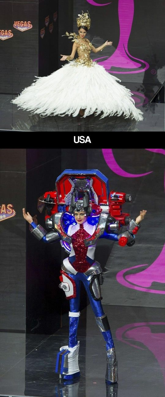 Miss,Universe,National,costumes Argentina and USA What the h?