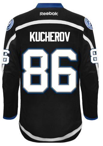 Tampa Bay Lightning Nikita KUCHEROV  86 Official Away Reebok Premier  Replica NHL Hockey Jersey (HAND SEWN CUSTOMIZATION) 0bc01f036