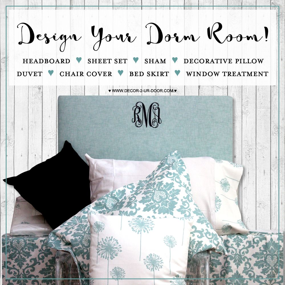 Introducing The Most Fab Design Ur Own Tool You Ever Did See Create Your Own Dorm Room Bedding And Decor Products We Welcome The Oppor College Dorm Room Decor