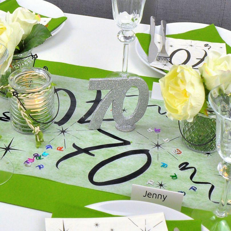 Tischdekoration zum 70. Geburtstag bei Tischdeko-Shop.de