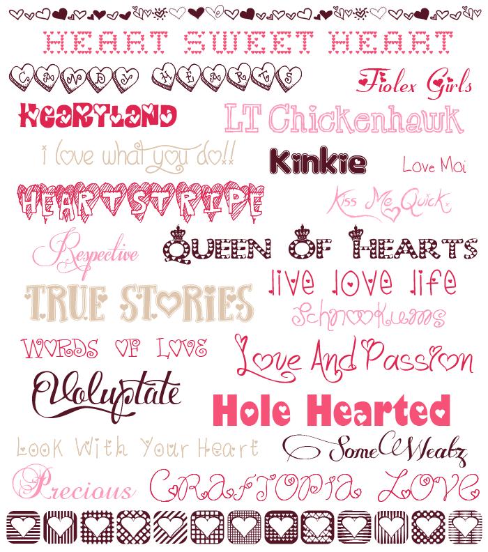 Download Valentine's Day fonts - Free | Print fonts, Valentine font ...