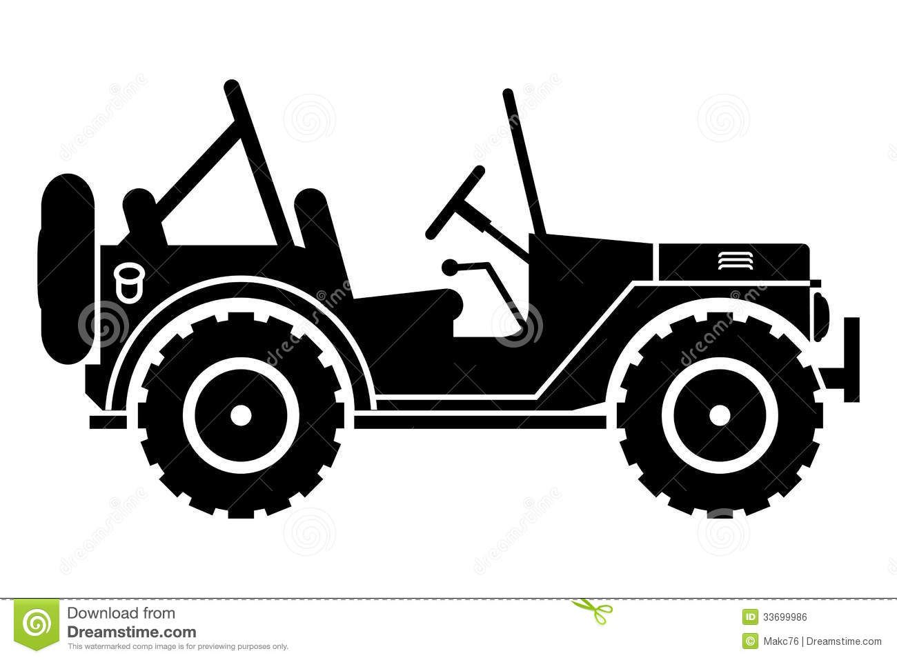 Jeep Silhouette Stock Vector Image 48974506 Jeep Drawing