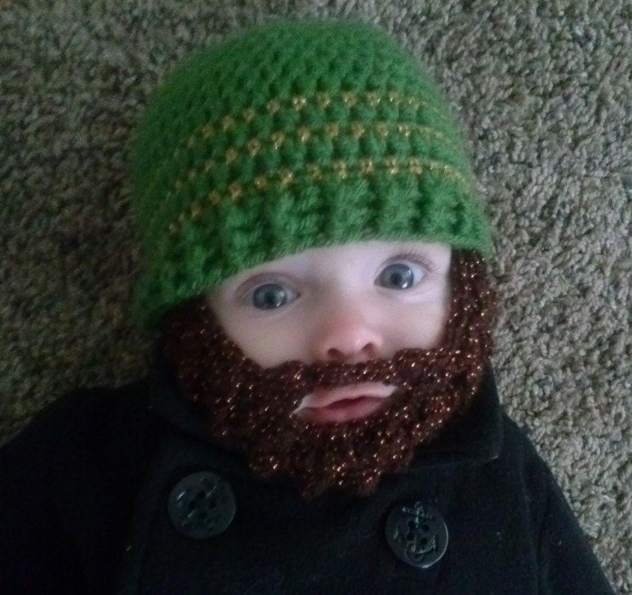 Crochet Beard Hat, Bearded Baby Hat, Baby Face Warmer Hat, Beard Cap ...