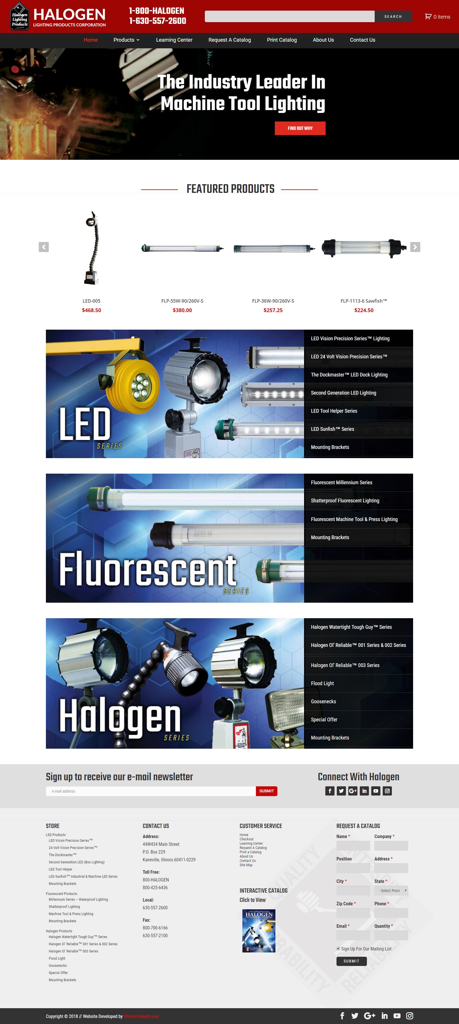 Website Design For Halogen Lighting Com By Visionfriendly Com Fullwidth Responsive Industrial Webdesign Webdevelopmen Website Design Web Design Naperville