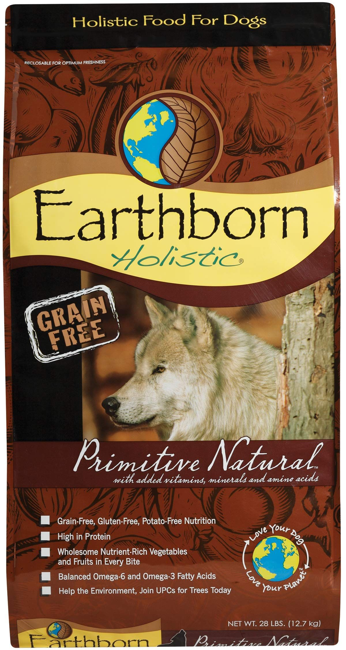 Earthborn Holistic Primitive Natural Grain Free Dry Dog Food Dog