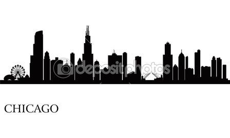 chicago city skyline silhouette background stuff for mason