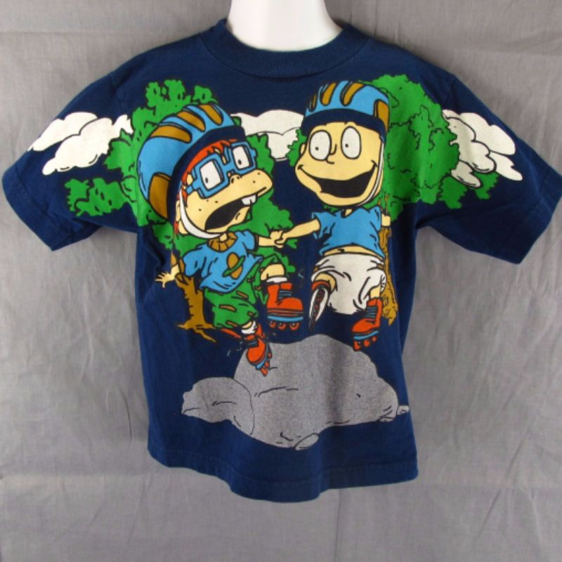 RUGRATS YOUTH SHIRT SIZE 4 PRINTED KIDS VINTAGE RETRO NICKELODEON TOMMY CHUCKIE
