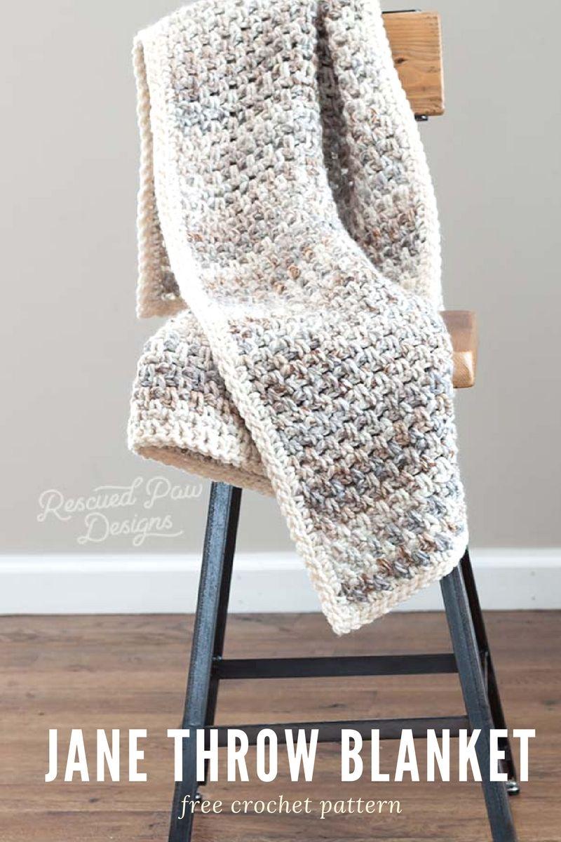 Jane Throw Blanket Pattern - Easy Crochet Blanket | Labores