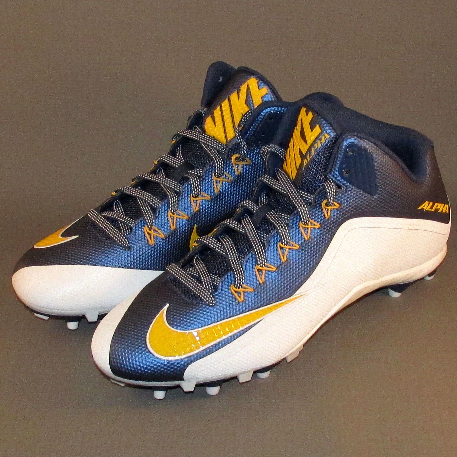 Nike alpha pro td football cleats mens size 12 bluegold