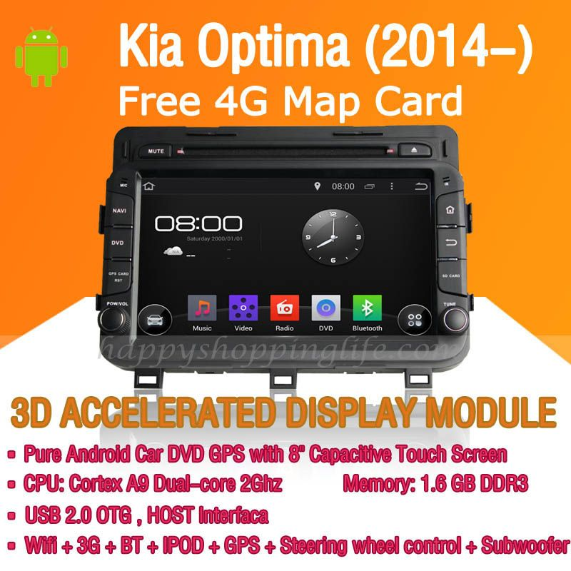 Android Car DVD Player GPS Navigation for Kia Optima 2014-2016 Radio