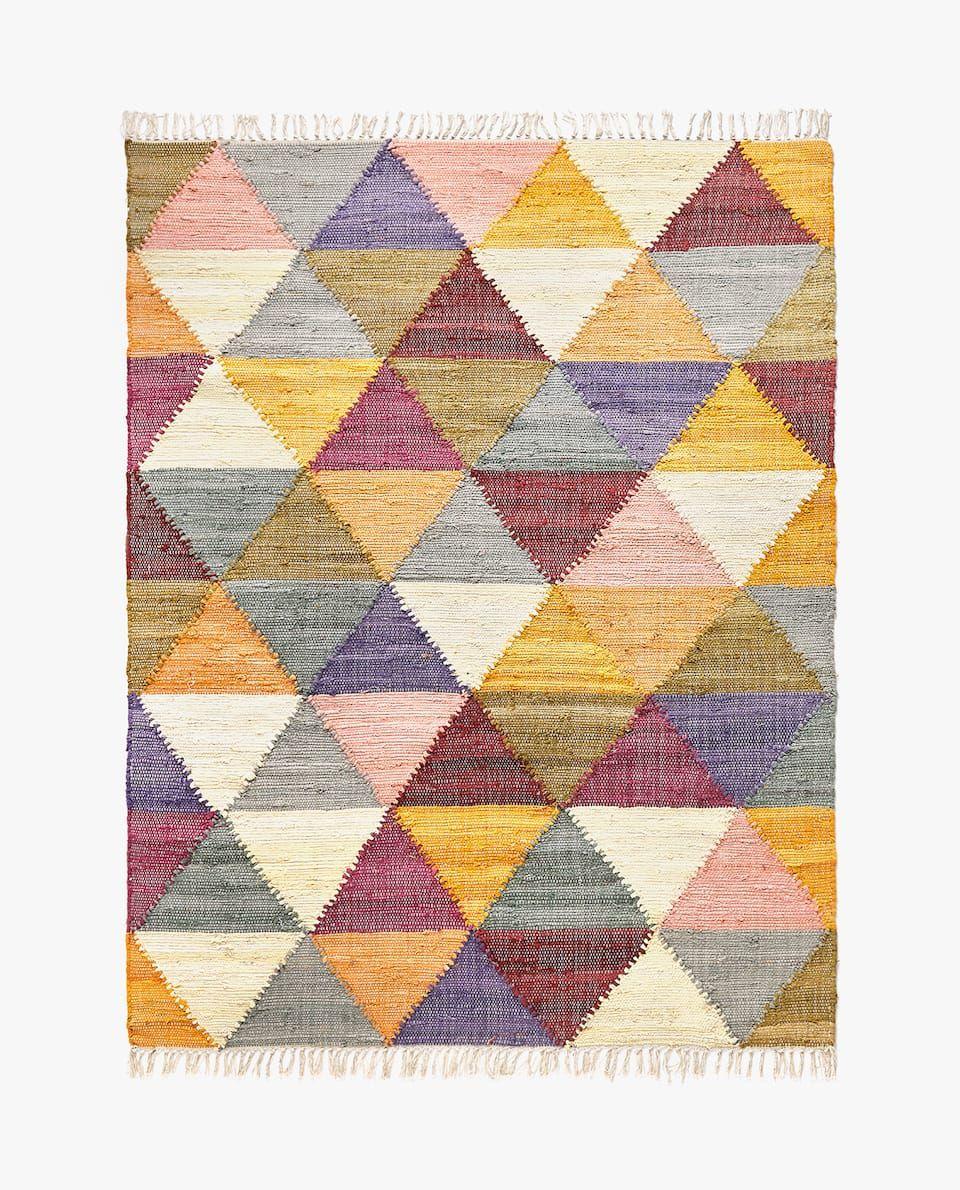 Baumwollteppich Mit Bunten Rauten Teppiche Carpets In 2019 Zara Home Zara Und Baumwolle
