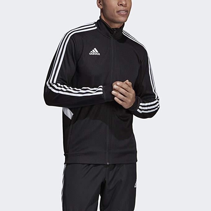 adidas Men's Alphaskin Tiro Training Jacket, BlackWhite, 3X