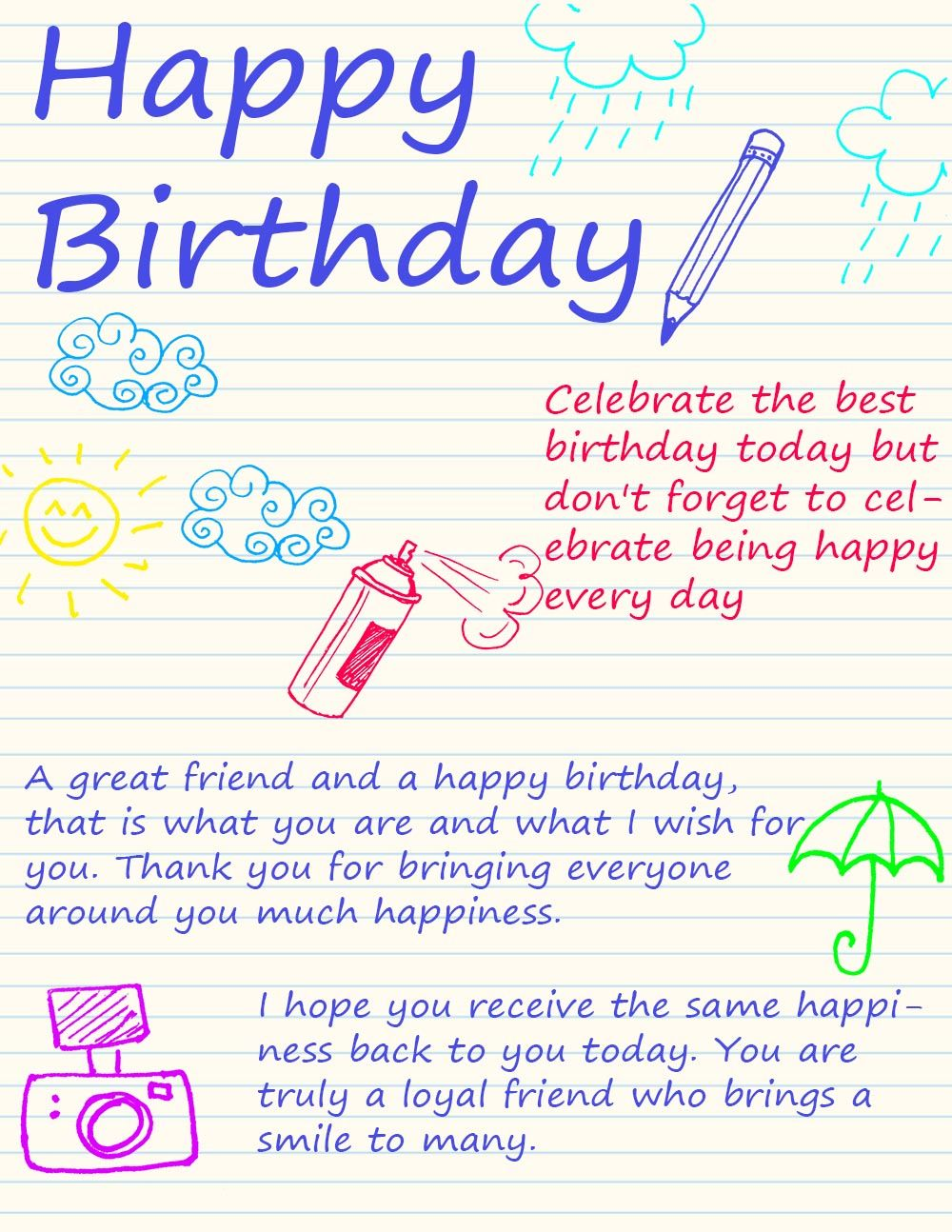 Happy Birthday Ecards Friend birthday quotes funny