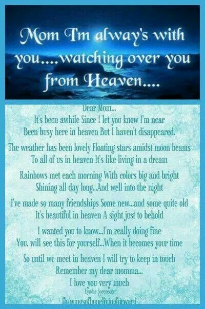 My Son Missing Heaven Poems