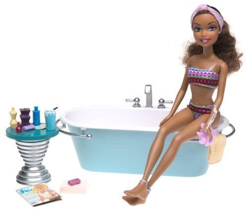 Barbie My Scene Tub Bubble Bath Doll House Bathroom Furniture Madison/ Westley