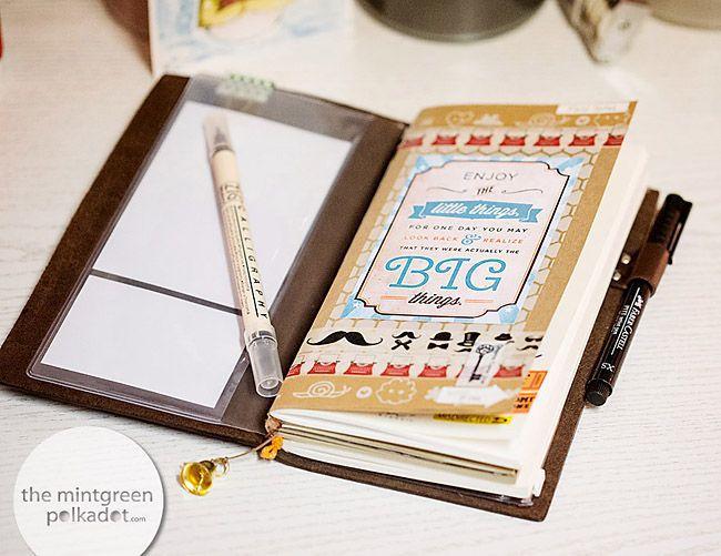pingl par sumana sur midori notebook pinterest carnet etsy et agenda. Black Bedroom Furniture Sets. Home Design Ideas