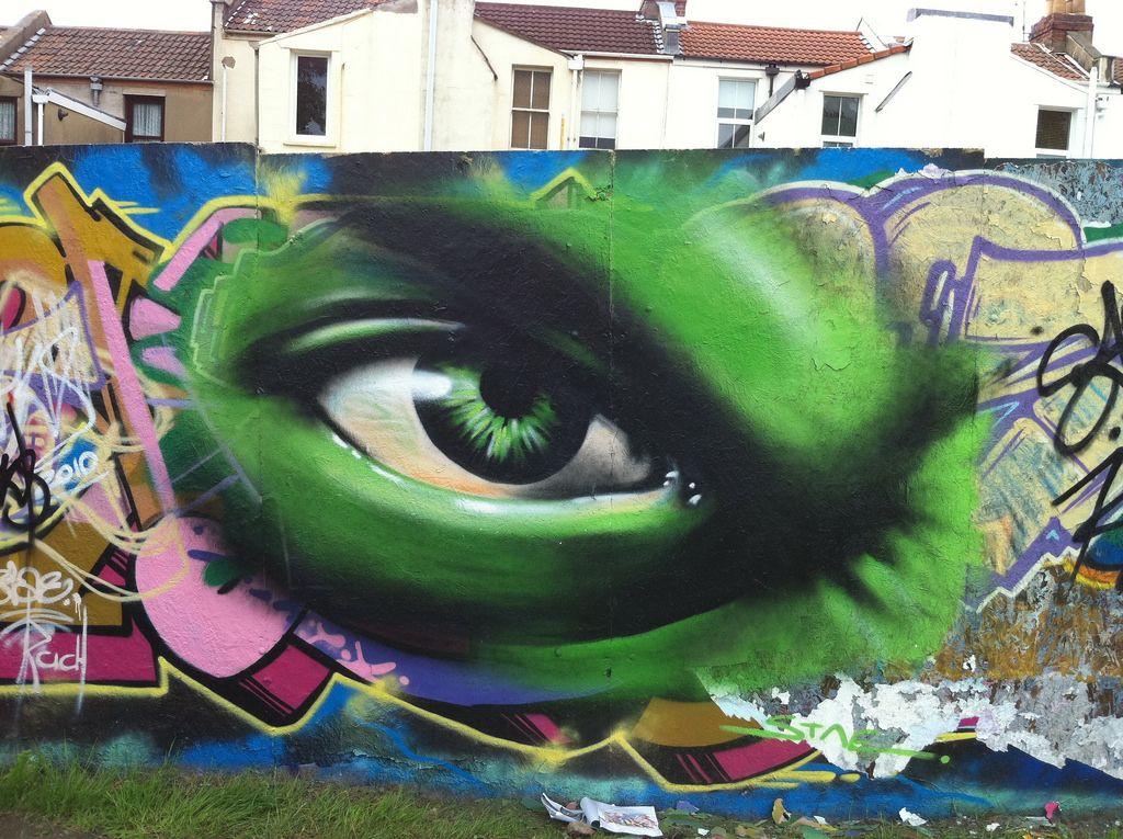 Resultado de imagen para graffitis de el increible hulk