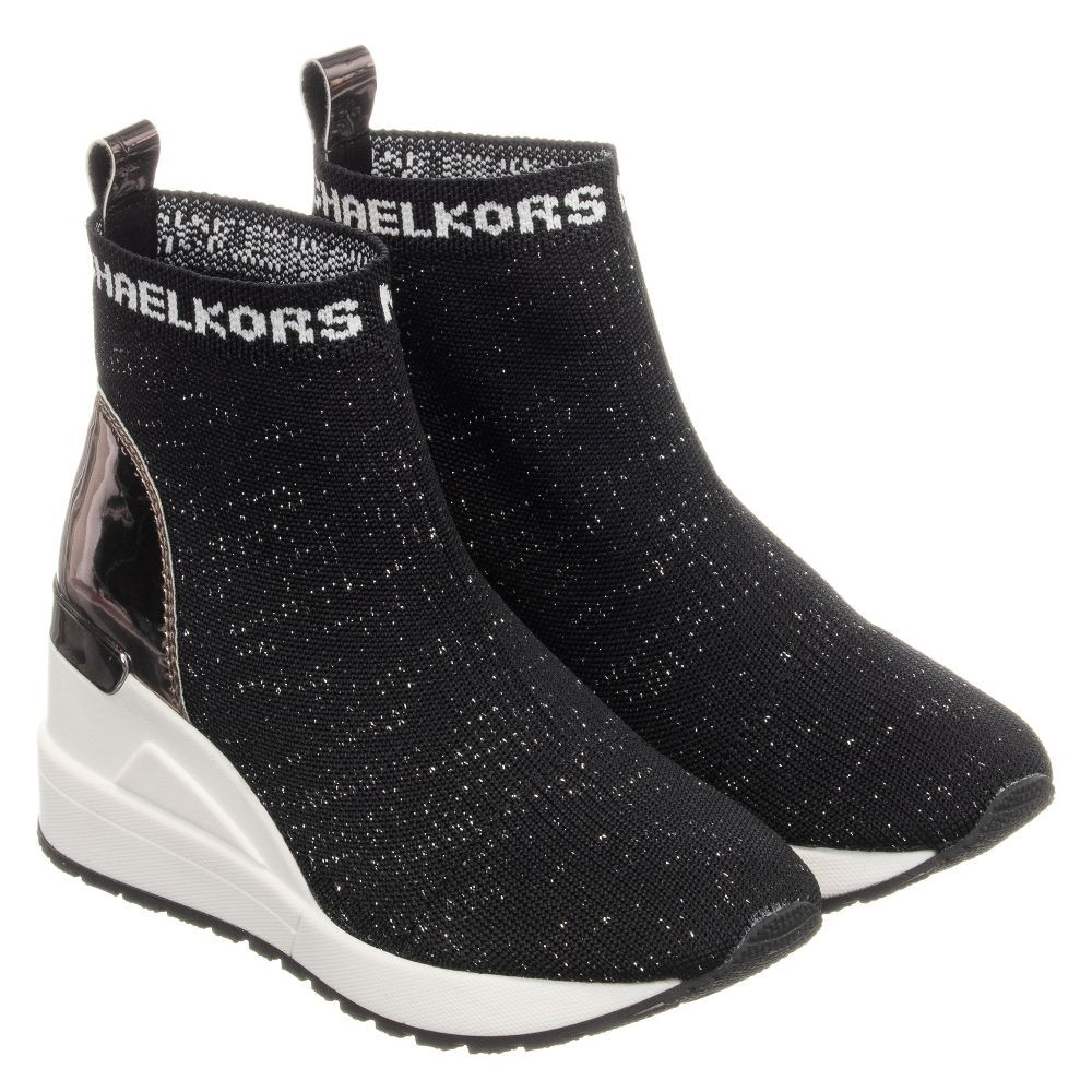 black sock trainers from Michael Kors