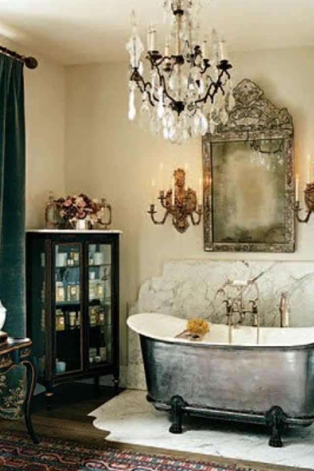 French Inspired Bathrooms Old World Cherie