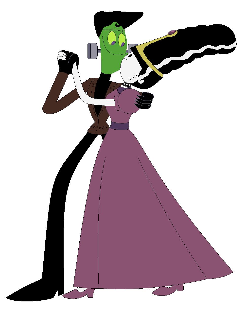 Nergal And Princess Bubblegum In Brides Of Frankenstein Cartoon