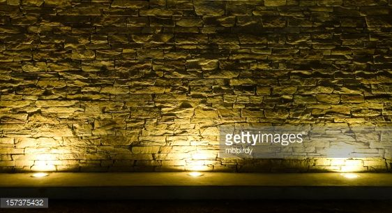 Image Result For Lit Up Stone Wall Stone Wall Stone Lighting