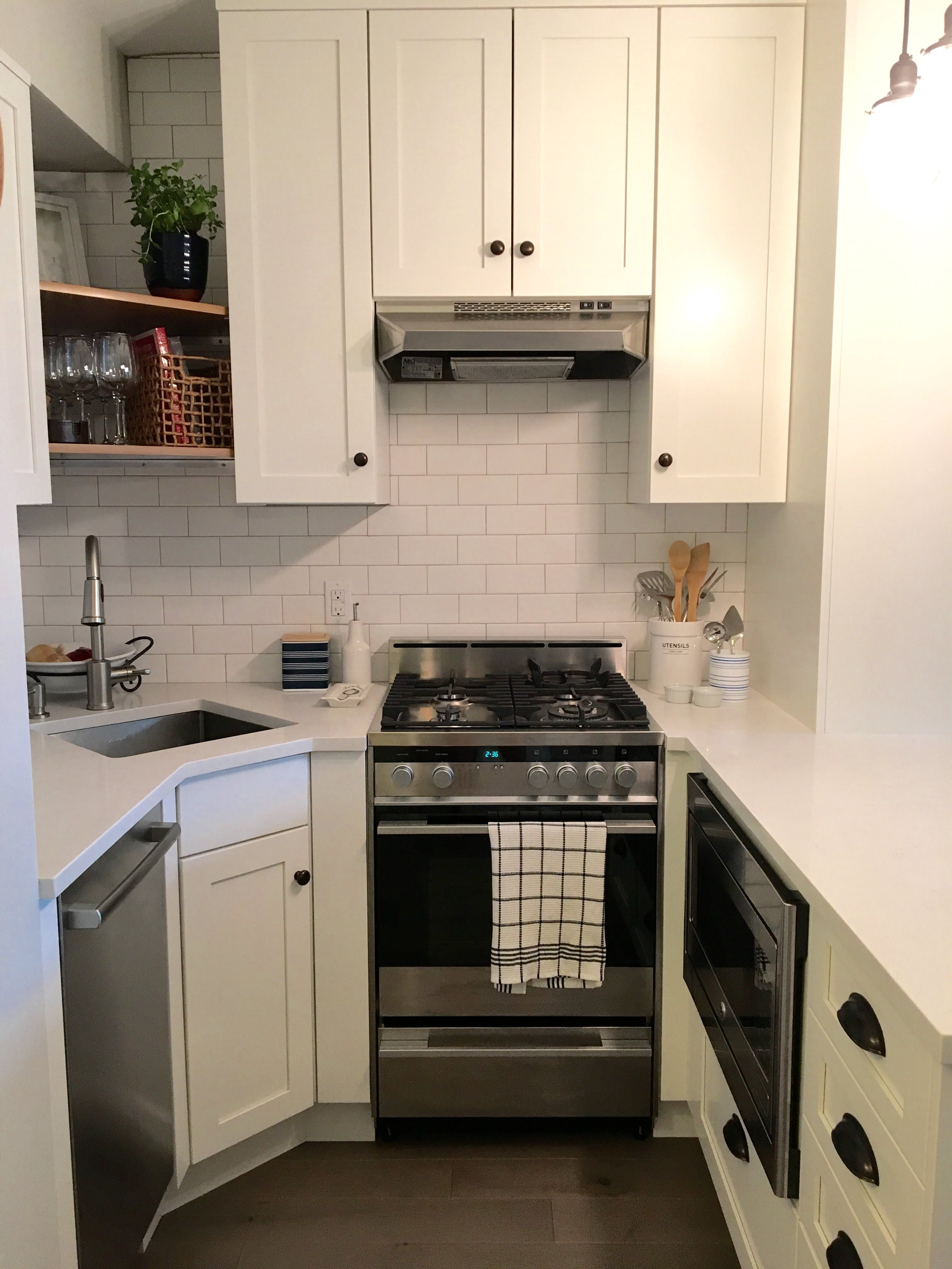 This Complete Studio Makeover Went From Gut To Gorgeous Kitchen Design Small Kitchen Remodel Small Kitchen Remodel