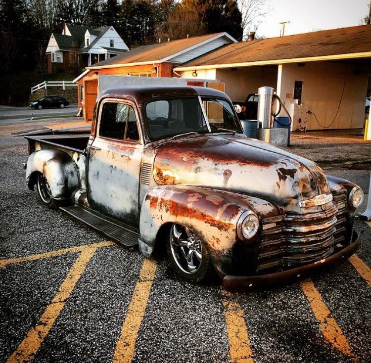 Deep Gloss Clear Coat Over A Patina Rusty Finish On An Advance Design Chev Pickup Truck Trucks Classic Trucks Rat Rod
