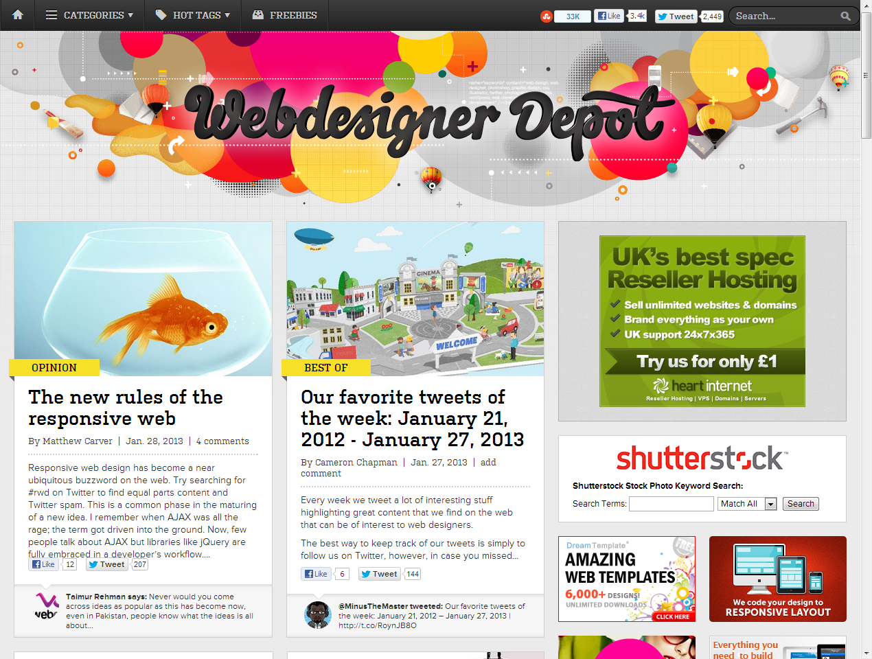 Colourful Headers- Web Design Blog | web header. | Pinterest ...