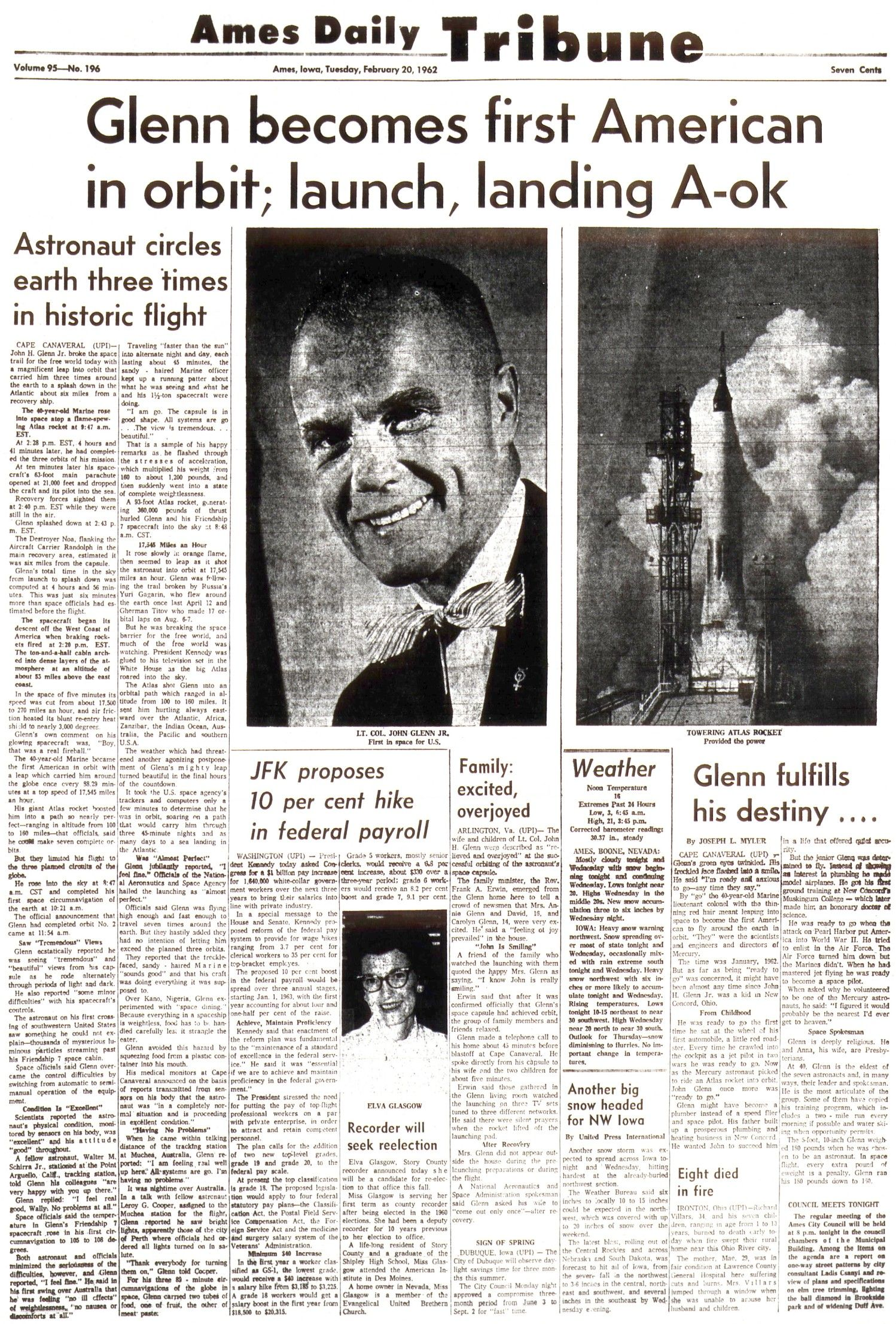First Astronaut to Orbit Earth 1962 - Pics about space
