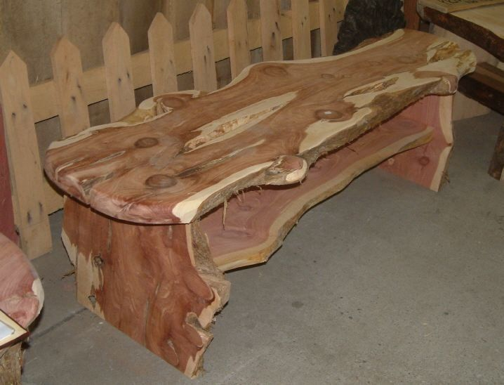 Cool Woodworking Projects Today S Project Live Edge Cedar Slab Bench Or Table Cool Woodworking Projects Cedar Wood Projects Woodworking Projects Diy