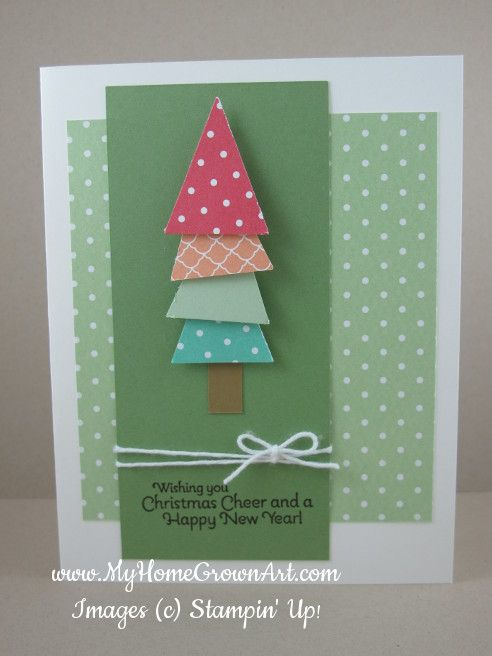 Very cute Christmas card with Untraditional Christmas colors Using