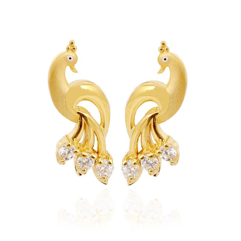Peacock Gold Stud | My Collections | Pinterest | Gold studs ...
