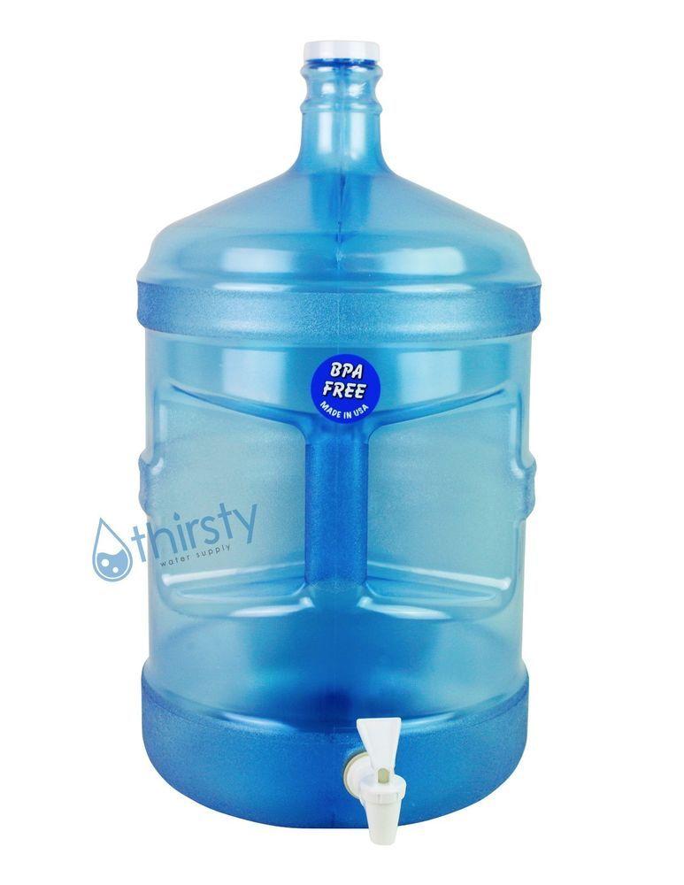 Details about BPA Free 5 Gallon Water Bottle Faucet Reusable