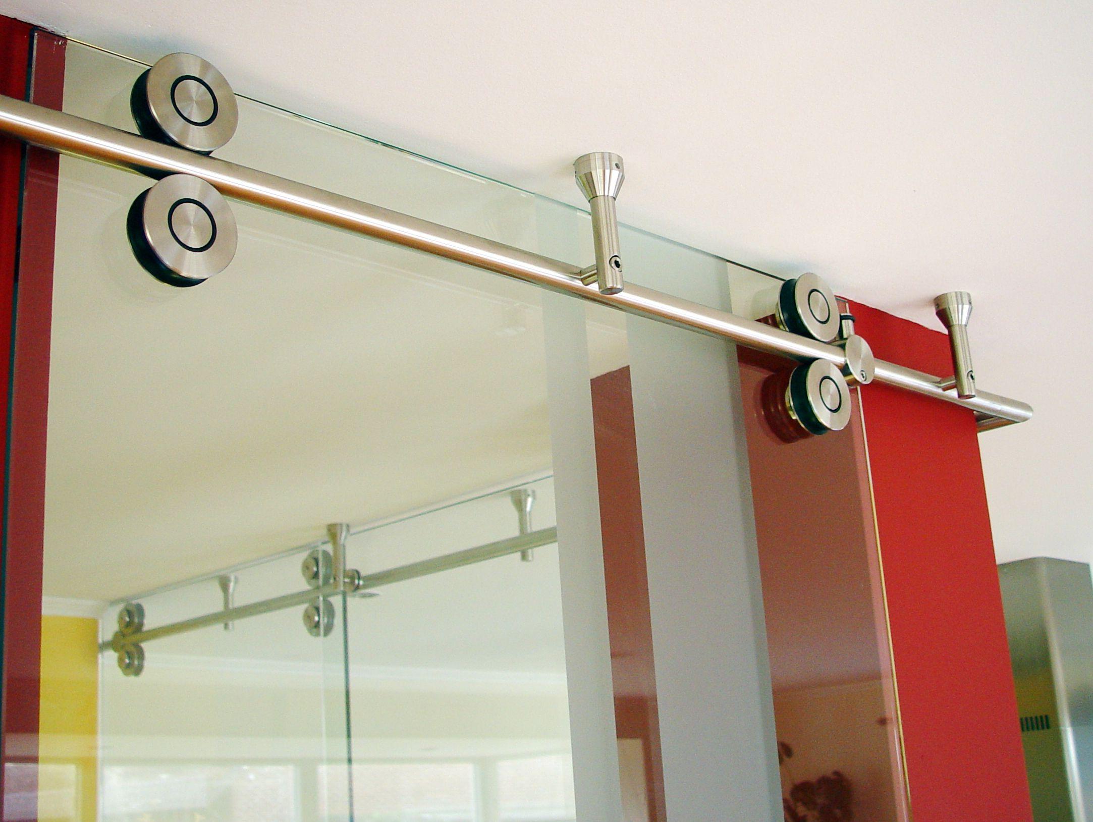 Mwe Twin Modern Barn Door Hardware Is Suitable For Single Or Double Bi Parting Applications The Rail Modern Barn Door Modern Door Hardware Making Barn Doors
