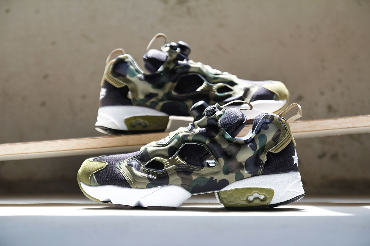 "decf88b77d3 Image of A Closer Look at A Bathing Ape x mita sneakers x Reebok Instapump  Fury OG ""Camo"""