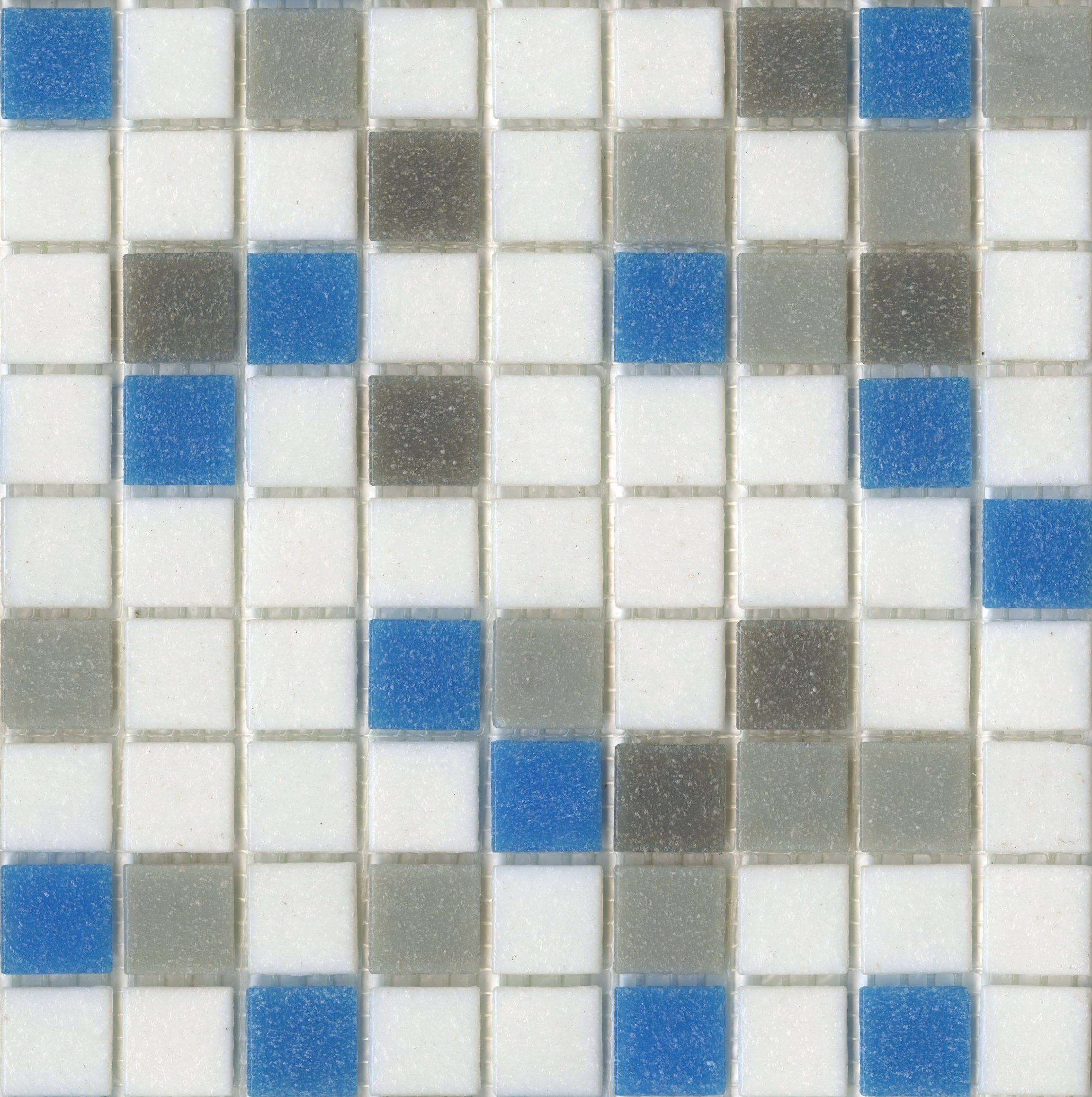 Brio Blend Urban Sky - Glass Mosaic Tile | Pinterest | Bathroom ...