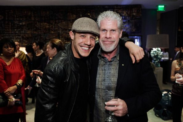 Ron Perlman with Theo Rossi at the Opal's handbag launch