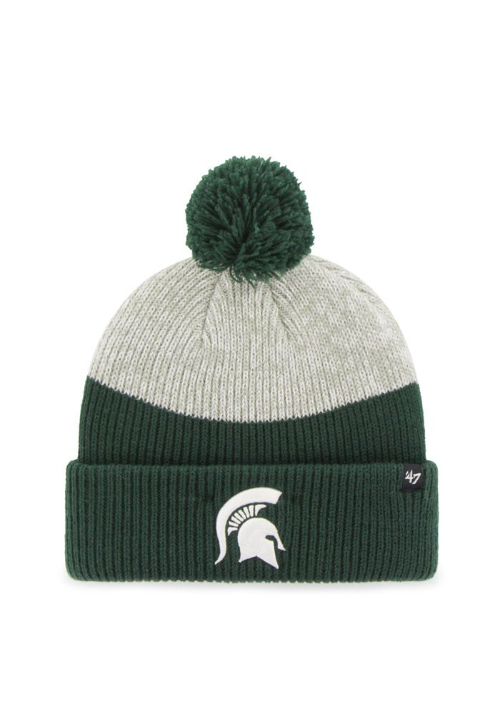 more photos 3b9b3 877fd ... 47 michigan state spartans green backdrop mens knit hat green 100  acrylic size osfm.