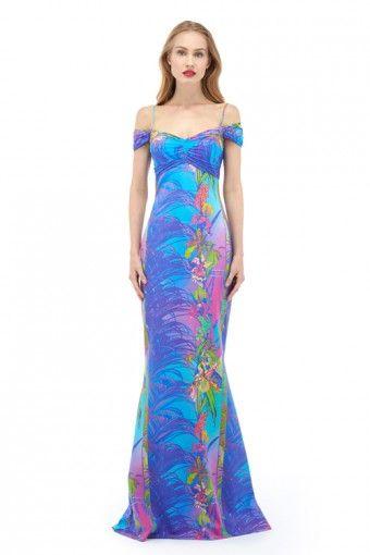 Gardenia Print Long Dress | La Petite Robe di Chiara Boni