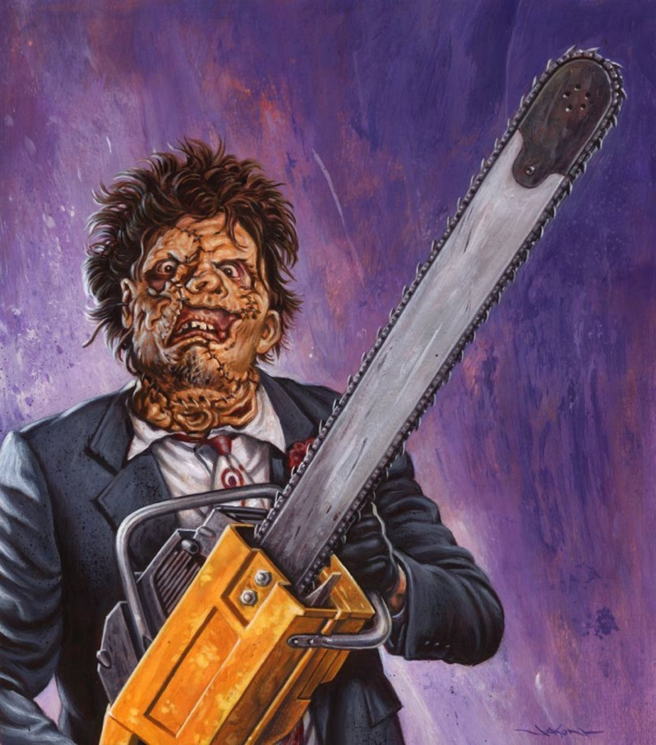 "165 Best Images About The Texas Chain Saw Massacre On: ""The Texas Chainsaw Massacre Part 2-Leatherface"" Painting"