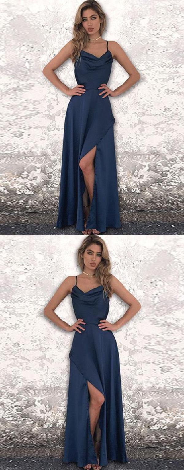 Cheap suitable blue open back navy in prom dresses