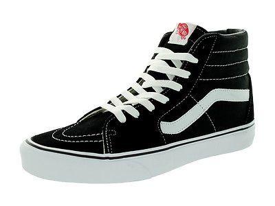 33b3a275935a4b Vans Unisex Sk8-Hi Black Black White Skate Shoe 9.5 Men Us   11 Women Us