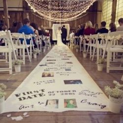 Wedding Aisle Idea Photo Text Journey From First Date To I Do Unique Runner For