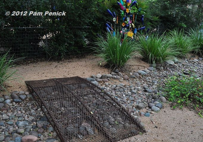 Captivating A Dry Stream Funnels Water Away From The House, And An Industrial Style  Metal · Garden BridgeGarden ...