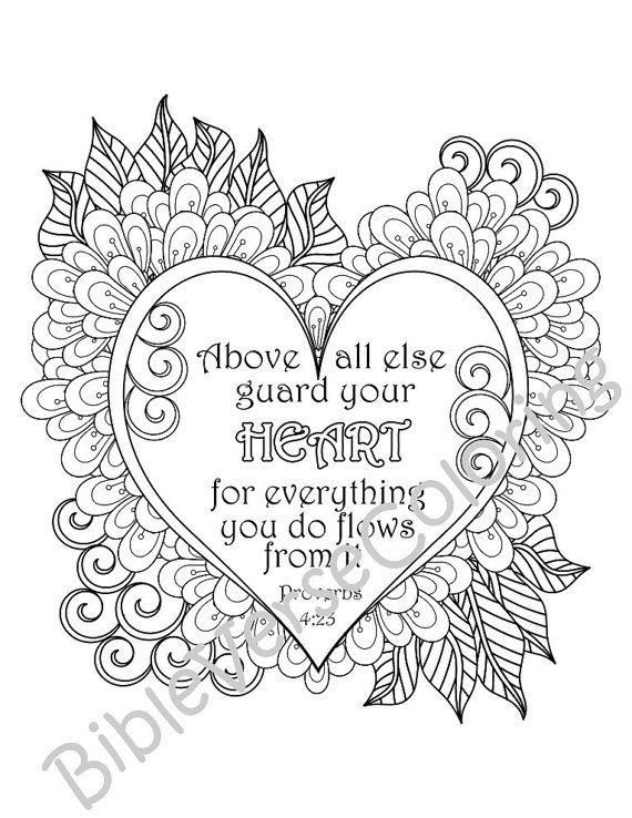 5 Pack Bible Verse Coloring Page Adult Relaxation Diy Coloring Party