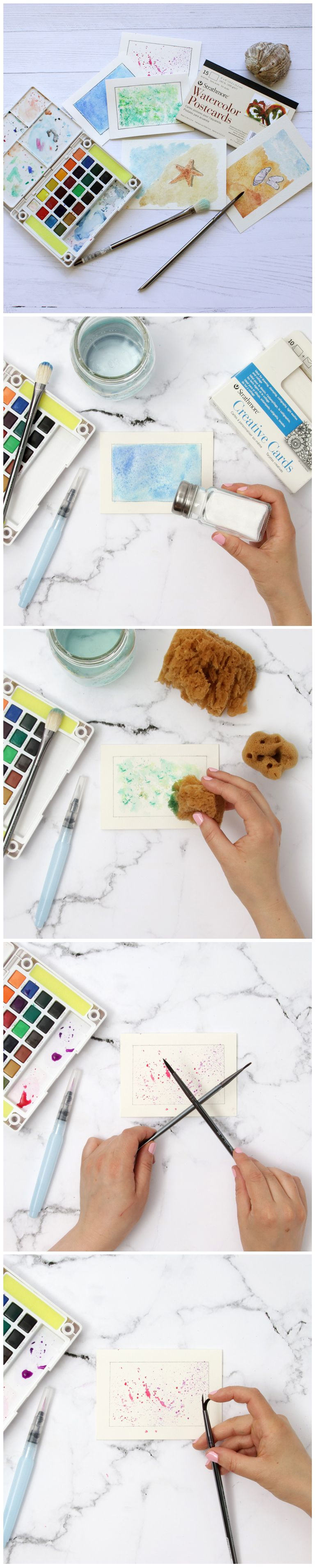 Technique Les Textures A L Aquarelle Creating Watercolour