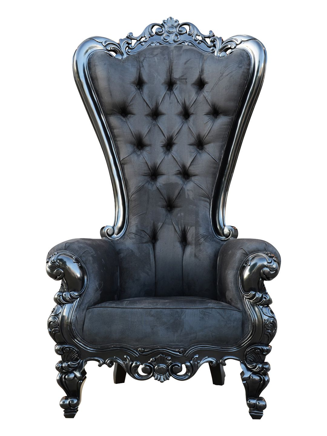 Black Gothic Throne Chair Baby Vibrating Elvira By Oh My Goth At Gilt 더성