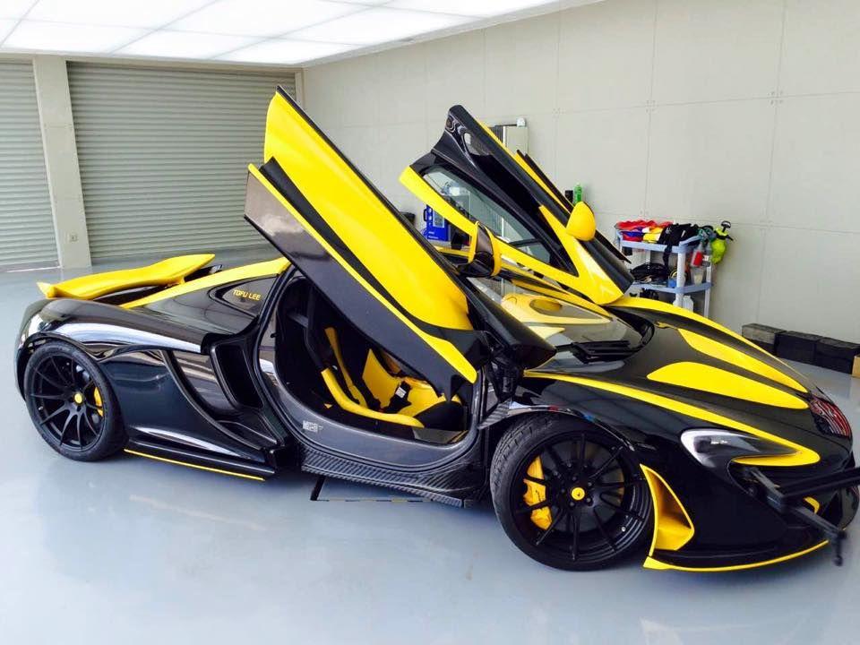 McLaren P1 in gelb und schwarz von Impressive Wrap