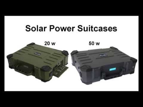 ANIM SOLAR POWER SUITCASE 50W